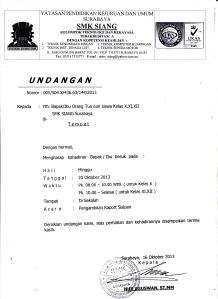 surat ambil raport